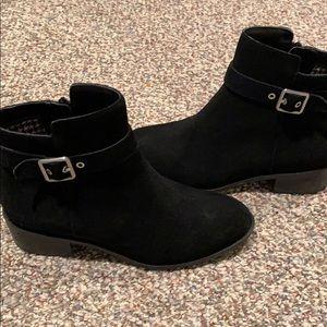 Cole Haan waterproof black suede boots